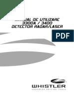 Whistler 3300A 3400 Utilizare