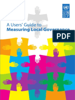 A Users' Guide for Measuring Local Governance