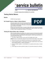 Testing Starter Motors