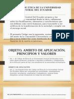 Codigo de Etica de La Universidad Diapositivas