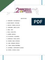 12 Princesas en Pugna Libreto Técnico Completo