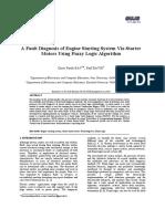 A Fault Diagnosis of Engine Starting System via Starter Motors Using Fuzzy Logic Algorithm[#96999]-83182