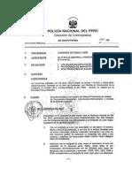 dictamen Pericial Grafotécnia de la Dirección de Criminalística de la PNP