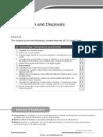 Depreciation and Disposals