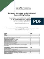 EUCAST Quality Check  Tables