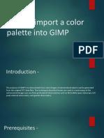How to Import a Color Palette Into GIMP