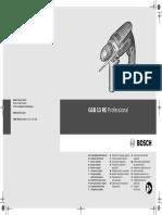 Taladro Percutor Bosch Gsb 13 Re Profesional Ref. 0601217100 0