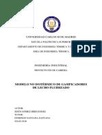Modelo No Isotermico de Gasificadores de Lecho Fluidizado