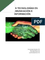 Nuevas Tecnologías en Información y Comunicación