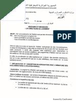 Instruction Du 13 Janvier 2019