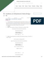 Wheatstone's Metre Bridge_ Numerical Problems Set 02