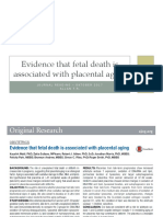 Evidence That Fetal Death is Associated With Placental Aging