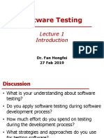 Introduction To Software Test