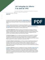 Autogolpe de Alberto Fujimori El 5 de Abril de 1992