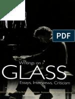 Writings on Glass