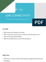 Jdbc Connectivity