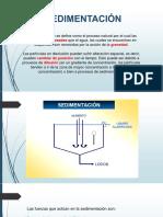 Clase - Sedimentación