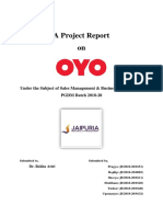 OYO Sales Management Project Report