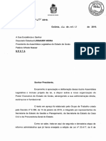 Projeto de Lei para Reforma Administrativa - Poder Executivo do Estado de Goiás - 2019