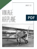 The Vintage Airplane Vol 1 No 2 Jan 1973