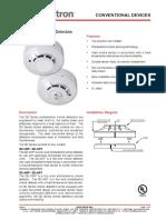 CAT-2052 SD Series Photoelectric Smoke Detectors