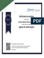 Certificado Agente de Ventas Digital Carlos Hoya