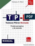 TP-R. Toulouse-Piéron Revisado. Prueba perceptiva y de atención