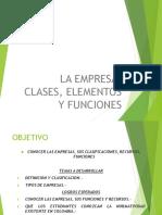 Definicion de Empresa Funciones Clasificacion Administracion de Empresas (1)