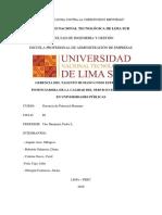 Gerencia Del Talento Humano en Universidades Publicas