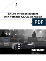 Shure Wireless With Yamaha CL En