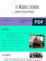 post middle school comm health project