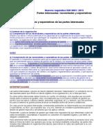 Requisitos ISO 9001-2015. 4.2 Necesidades y Expectativas de Las Partes