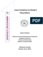 General Guidelines for Master