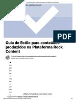 Guia de Estilo Para Conteúdos Produzidos Na Plataforma Rock Content
