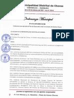 ORDENANZA APROBACION PDC