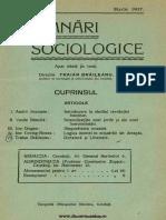 Insemnari Sociologice anul II, nr. 12, martie 1937