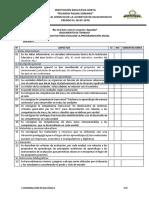 Lista de Cotejo Para Evaluar Plan Anual y Unidades Rps 2019