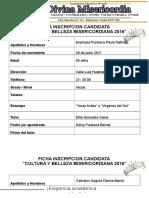 Fichas de Inscripcion Candidatas 2016