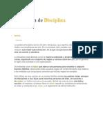 Definición dediciplina1