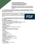 Ejercicio de Aplicacion Norma ISO 14001