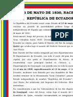 13 de Mayo Dia Del Ecuador