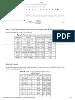 Chandra Method for Calculating Pcu