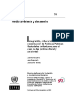 CEPAL (2003) Integración, Coherencia y Coordinación de Políticas Públicas Sectoriales