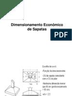 Dimensionamento de Sapatas