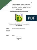 Adecuacion Del Producto y Canales de Distribucion Internacional