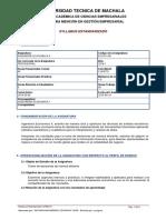 Syllabus Ingenieria Económica II 2019 1
