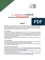 Premio Delle Arti Bando 2019 Composizione Ultimo