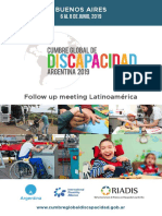 Presentacion Espanol. Cumbre Global de Discapacidad. Argentina 2019. Version Lectura Facil