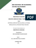 CRITERIOS JURÍDICOS PARA VALORAR A LA PRUEBA IRREGULAR EN EL PROCESO PENAL PERUANO.pdf