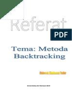 Referat Metoda Backtracking